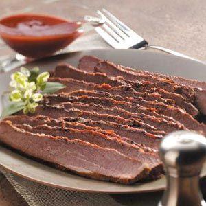 Barbecued Beef Brisket in slow cooker