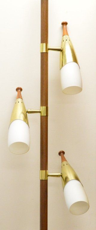 Mid Century Modern Floor Pole Lamp.  Pretty sure the grandparents had something nearly identical!