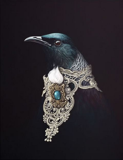 Adorned Orator - by Wellington artist, Jane Crisp. Cards available from www.imagevault.co.nz