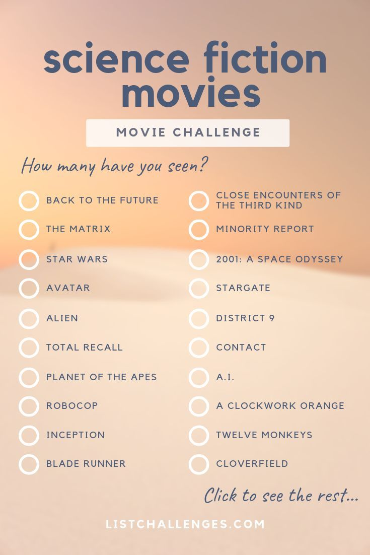 50 Must-Have Science Fiction Movies ~ Movie Challenge. How many did you see? Th … #challenge #fiction #films # looked #movie