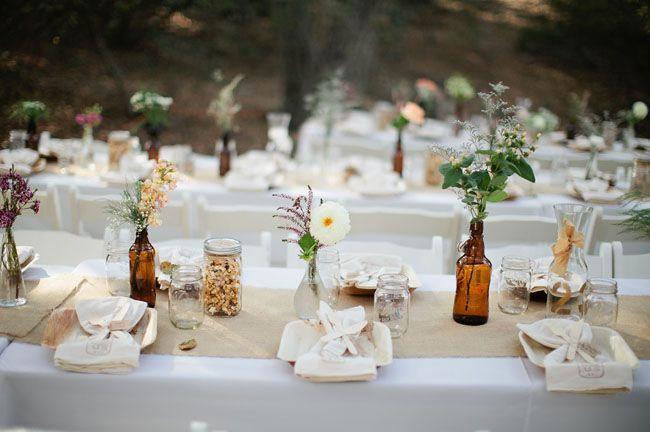 Bottles.. Love | Eco-Friendly Boho Wedding: Jessica + Kevin
