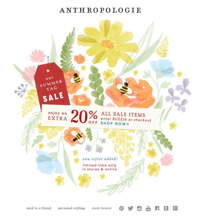 ANTHROPOLOGIE   Summer Tag Sale