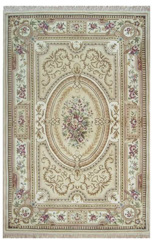 $5 Off when you share! The American Home Rug Company French Elegance Aubusson Beige Rug   Traditional Rugs #RugsUSA