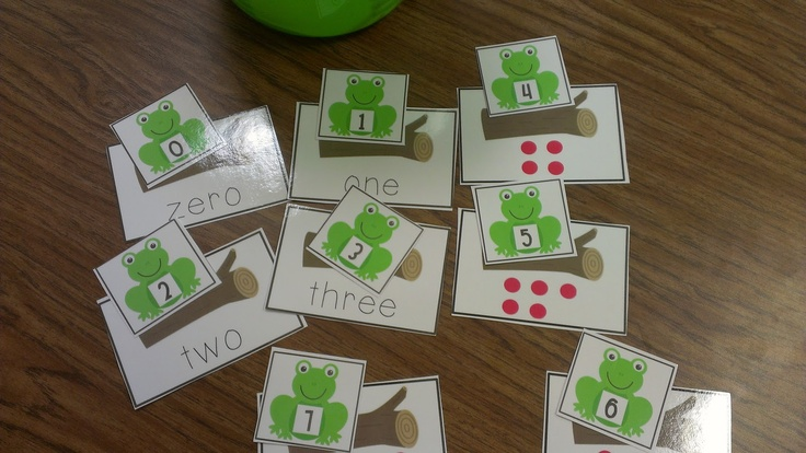 Frogs on a log!  Math Center game!