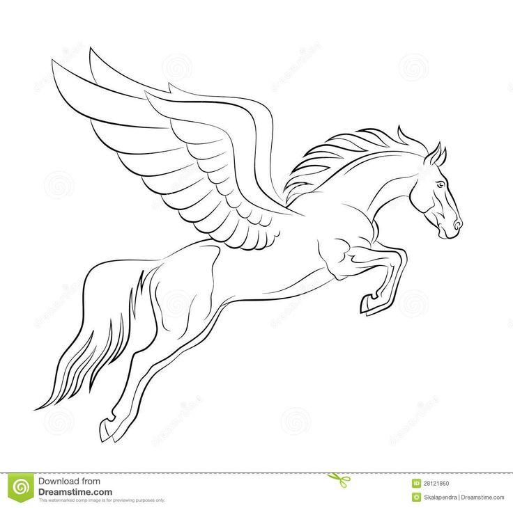 pegasus outline | Pegasus Stock Photo - Image: 28121860