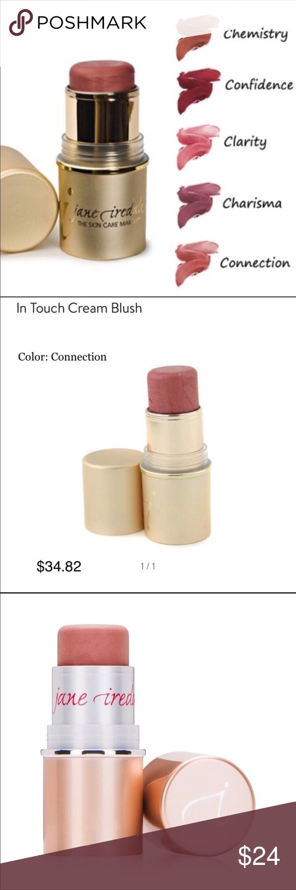 Jane Iredale In Touch Cream Blush ◾️New,Boxed! In Touch Cream Blush Sticks ◾️#1 World's Recommended Line by MD's & Estheticians! ▫️Jane Iredale cosmetics are famously known for their natural, healthy ingredients & are used in salons, spas, & esthetician practices! ▫️Recommended by the Skin Cancer       Foundation▫️SPF15▫️No Gluten ◾️#1 Best Selling Color! A perfect        peach/pink hue), not too dark or pale! ◾️💯Authentic. These are brand new & never tested.  🌀Price Firm on these. Bundle…