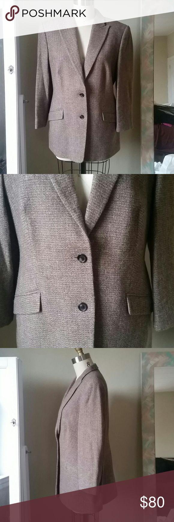 Cerruti 1881 Blazer Beautiful quality Cerruti 1881 Women's Blazer. Never worn, in amazing condition. 60% Wool 30% Angora10% Mohair.  European size 42. Size 12-14/Large in US size. Jackets & Coats Blazers