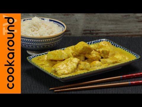 Pollo al latte di cocco e curry - YouTube