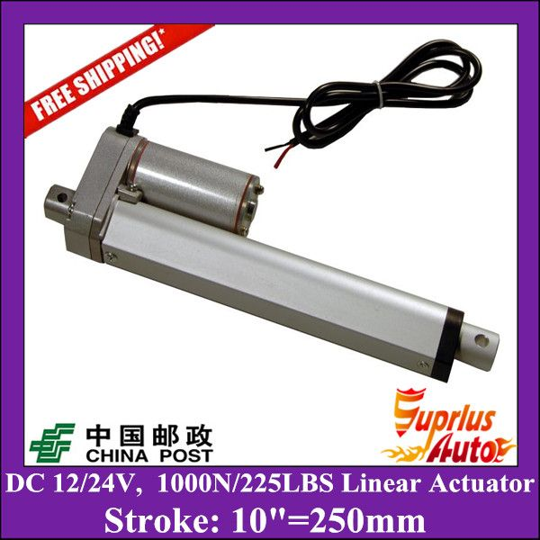 ==> [Free Shipping] Buy Best Free Delivery DC 12V/24V 10inch/250mm linear actuator with mounting brackets 1000N/100kgs load linear actuators for window Online with LOWEST Price | 32807339749