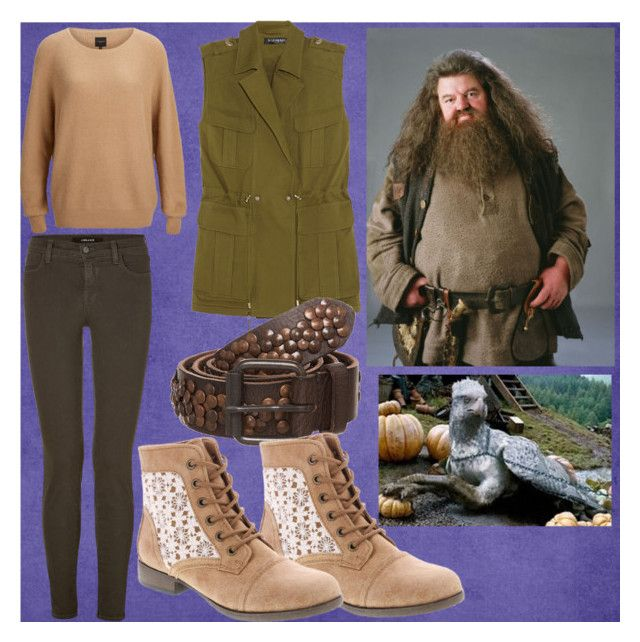 Rubeus Hagrid by slytheriner on Polyvore featuring SELECTED, Balmain, J Brand and Cowboysbag