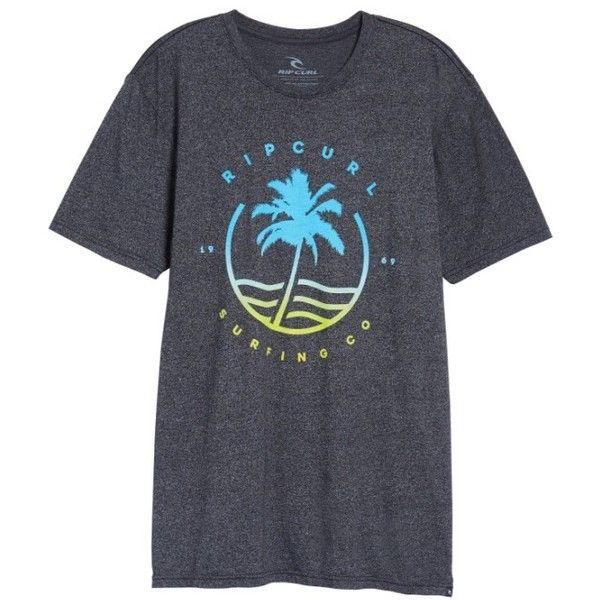Men's Rip Curl Bliss Mock Twist Graphic T-Shirt ($26) ❤ liked on Polyvore featuring men's fashion, men's clothing, men's shirts, men's t-shirts, black, mens neon shirts, rip curl mens shirts, mens mock turtleneck shirts, mens roll up sleeve shirts and mens cotton shirts
