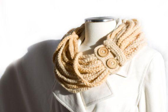 The Wolsley Cowl  Ladies Scarf  Wool Blend  Paper by PaperRaisins, $52.00