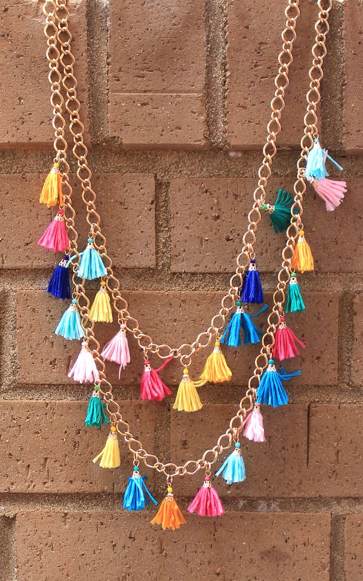 We love adorable tassels! And even more so when they're FREE! Free tassel necklace with any monogrammed purchase through 5/11/16! #free #tassel #necklace