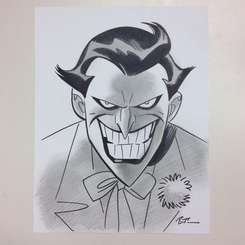 Bruce Timm - Joker Pencil Ink Sketch
