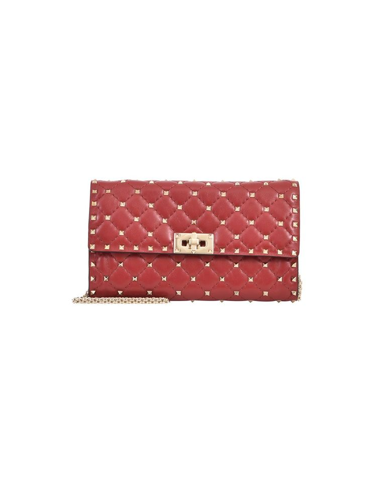 VALENTINO ROCKSTUD CLUTCH RED. #valentino #bags #shoulder bags #clutch #leather #hand bags #