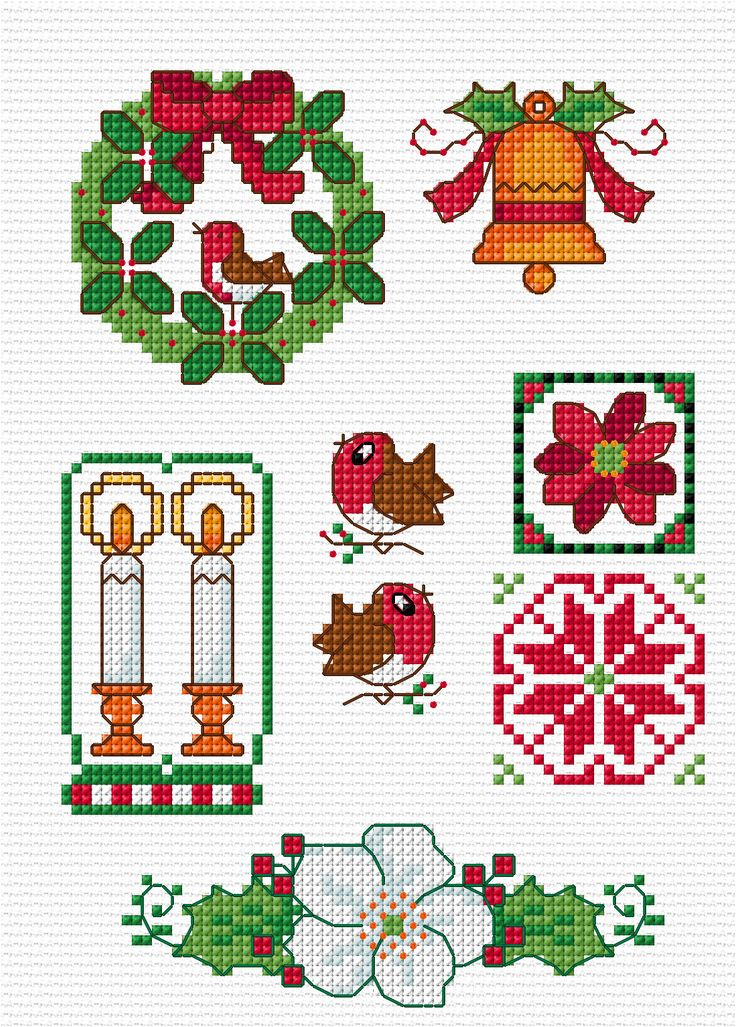Cross Stitch- http://lesleyteare.com/2013/11/24/quick-christmas-motifs/