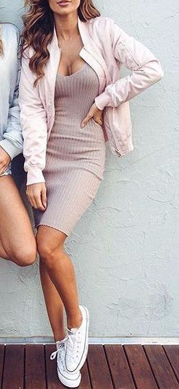 Cute Silky Pink Bomber Jacket