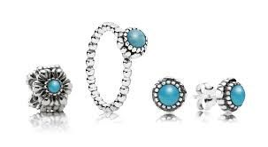 Pandora -Sterling Silver December Birthstone  -Ring, $59, Earrings, $59 and Charm $59