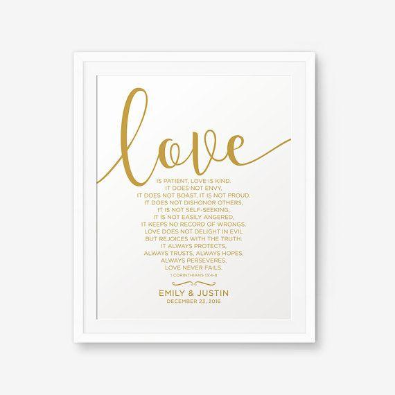 L'amore è paziente, è benigna... -1 Corinzi 13:4-8
