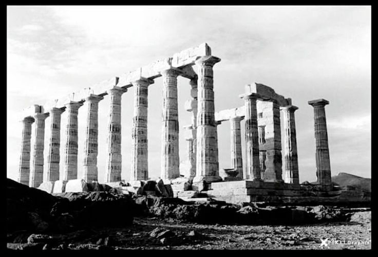 Temple Of Poseidon Blackandwhite Photography Greece Ancient Architecture Ancient Greece Pixelgraphix