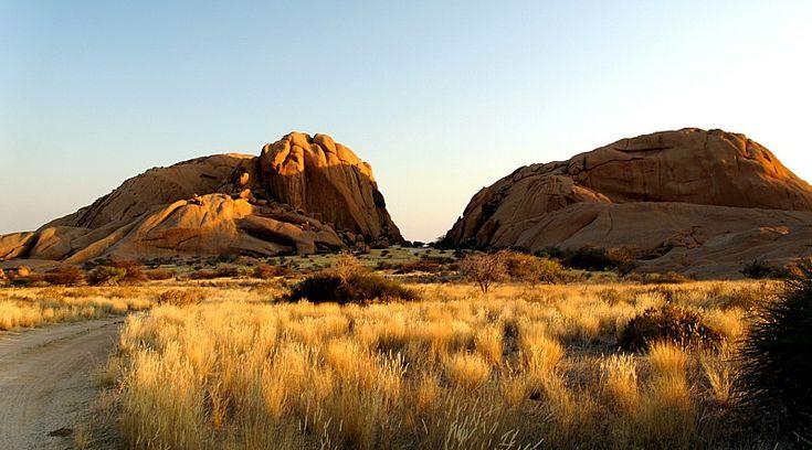 Evening walk. Namibia, Erongo, Spitzkoppe