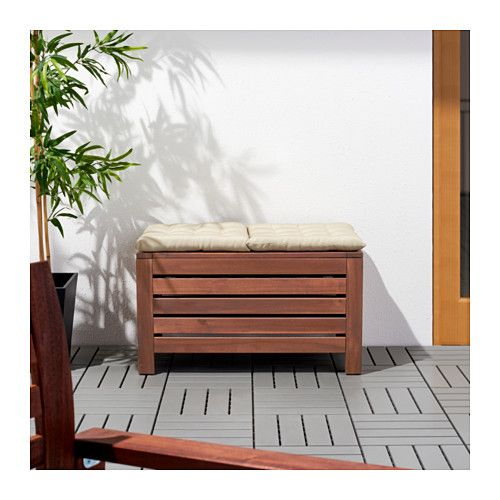 ÄPPLARÖ Storage bench, outdoor $79