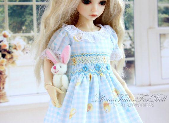Smocked DRESS for doll iplehouse Kid   35 cm от AlenaTailorForDoll