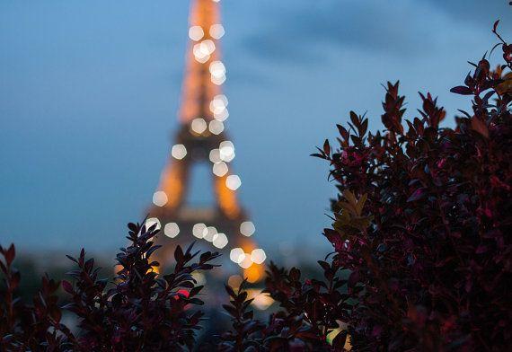 Fotografia di Parigi Torre Eiffel al tramonto di rebeccaplotnick