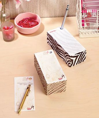 A Jumbo Notepad and Pen Gift Set is great for writing down notes, a phone number, to-do items and more. The huge stack of 400 sheets is perfect for keeping on her desk, kitchen counter, or anyplace in her home or office. Each notepad has a built-in h