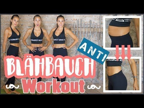 FLACHER BAUCH Workout - Blähbauch bekämpfen mit SOFORT EFFEKT - Bauch weg Tipps - YouTube