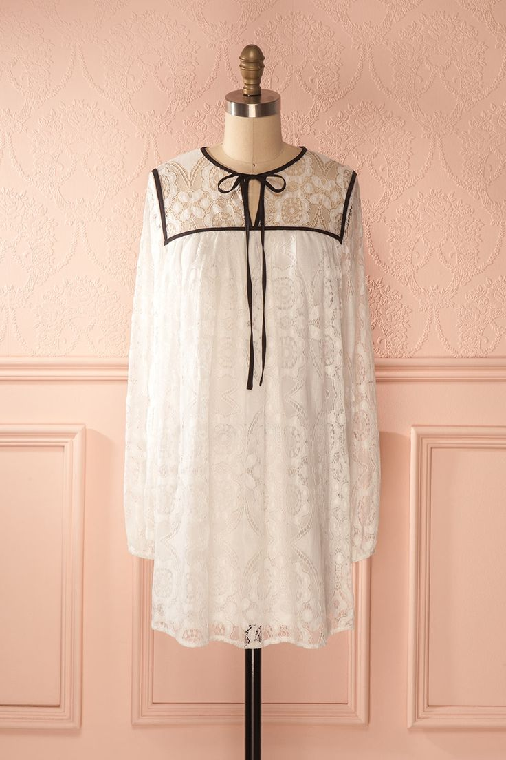 Diamande - White lace tunic dress