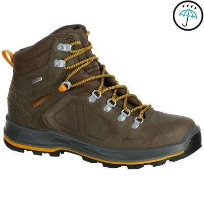 Forclaz 600 High Men's Waterproof Walking Boots - Brown...