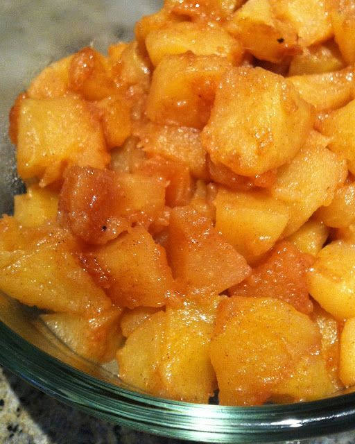 delicious wife: low carb cinnamon apples: delicious for dinner or dessert