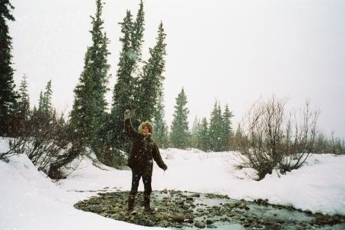 Chris Mccandless with the love of his life, nature.