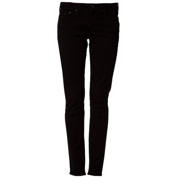 Levi's® CLASSIC SLIGHT CURVE Slim fit jeans ($97) ❤ liked on Polyvore featuring jeans, pants, black, women's trousers, levi jeans, slim cut jeans, levi skinny jeans, slim jeans and slim fit jeans
