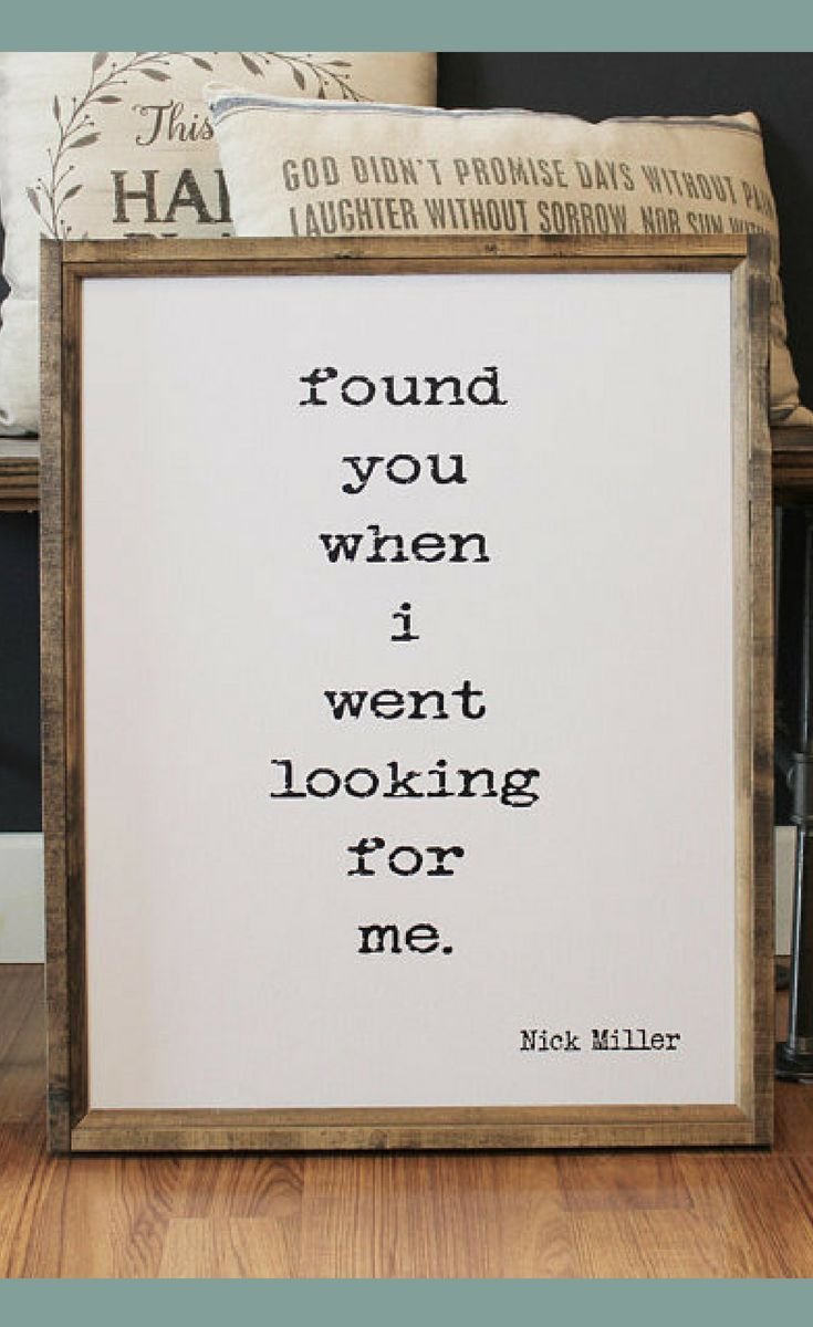 Found You When I Went Looking For Me Wood Framed Sign Bedroom Wall