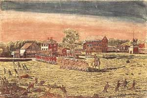 April 19, 1775: The Battles of Lexington and Concord, in which the first shots of the Revolutionary War were fired