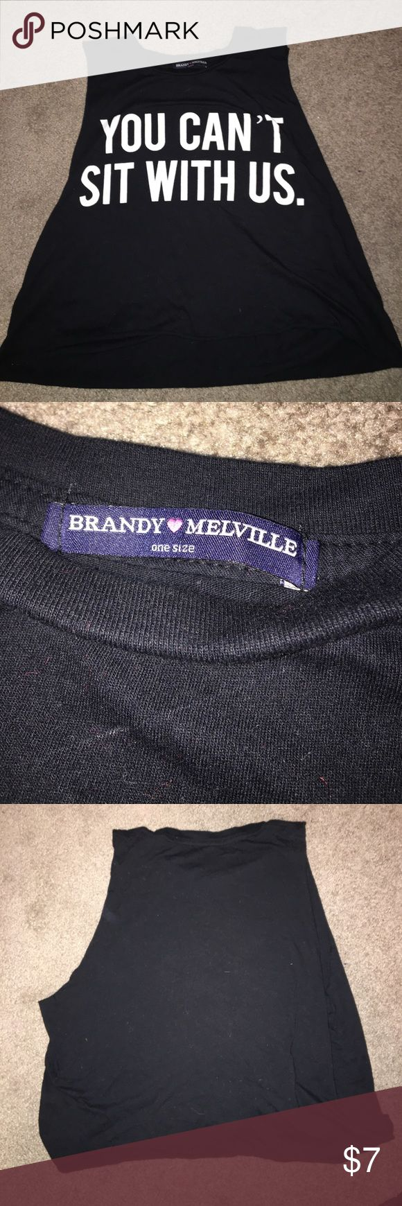 """""""You Cant't Sit With Us"""" Brandy Melville Top Crop Top. Brandy Melville. One Size, but cropped for S/M. Cute, Mean Girls! Brandy Melville Tops Crop Tops"""