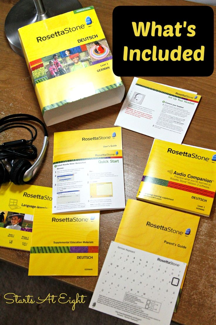 Rosetta Stone Homeschool - What's Included from Starts At Eight