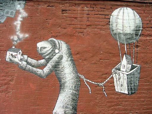 Best World Of Urban Art PHLEGM UK Images On Pinterest - Awesome mechanical shark mural phlegm