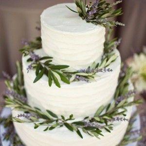 wedding cake lavande