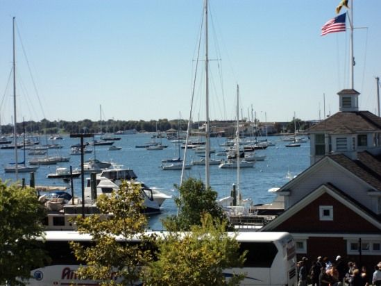 Bedroom view of Harbor in Newport Rhode Island. Awesome condo there!