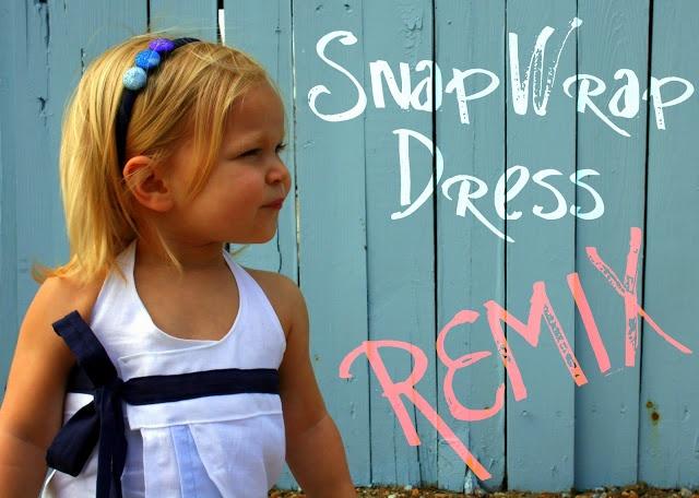 Snap Wrap Dress Remix - The Sewing Rabbit