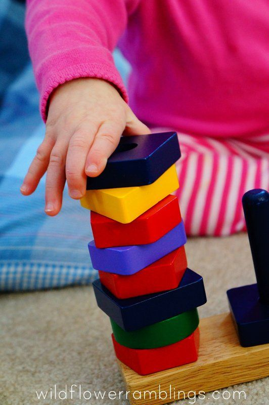 sorting shapes - 21 Activities for One Year Olds - Baby Play - Wildflower Ramblings