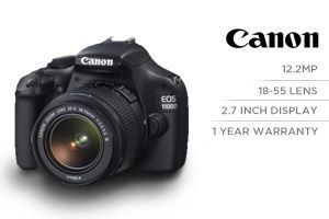 Canon 1100D 18.55mm Lens Kit (12.2 megapixel SLR Camera)