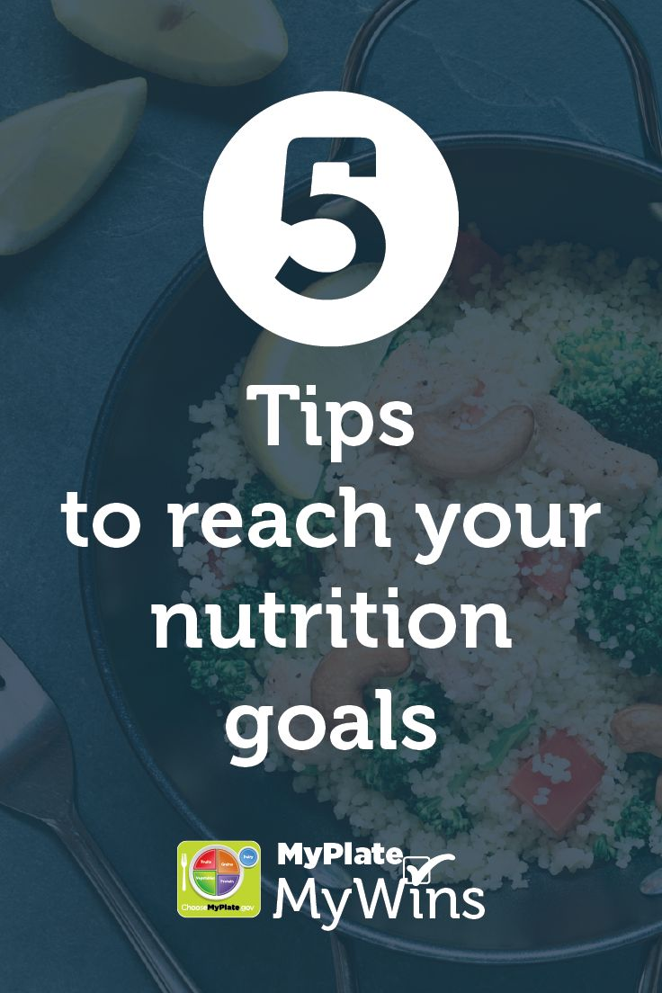Reach your nutrition goals with these tips! #MyPlate
