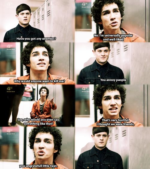 I love how Simon started out hating Nathan and by season 3 they were best friends.