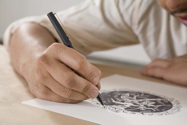 How to edit drawings in Photoshop by Elizabeth Mott.