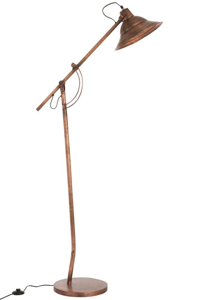 J Line Lampa Stojąca Podłogowa Flattened Metal