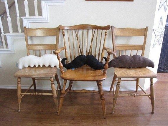 Moustache Pillows - Mustache Geek Chic Home Decor
